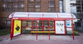 Fałszywy przystanek MZA na ul. Wilanowskiej przed Centrum Alzheimera